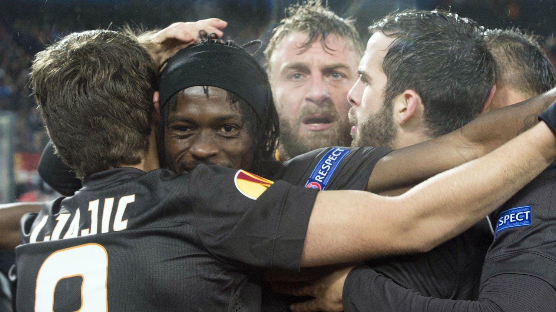 MATCHVINNER: Selv etter å ha blitt utsatt for rasisme, holdt Gervinho hodet kaldt og avgjorde for Roma. FOTO: NTB scanpix
