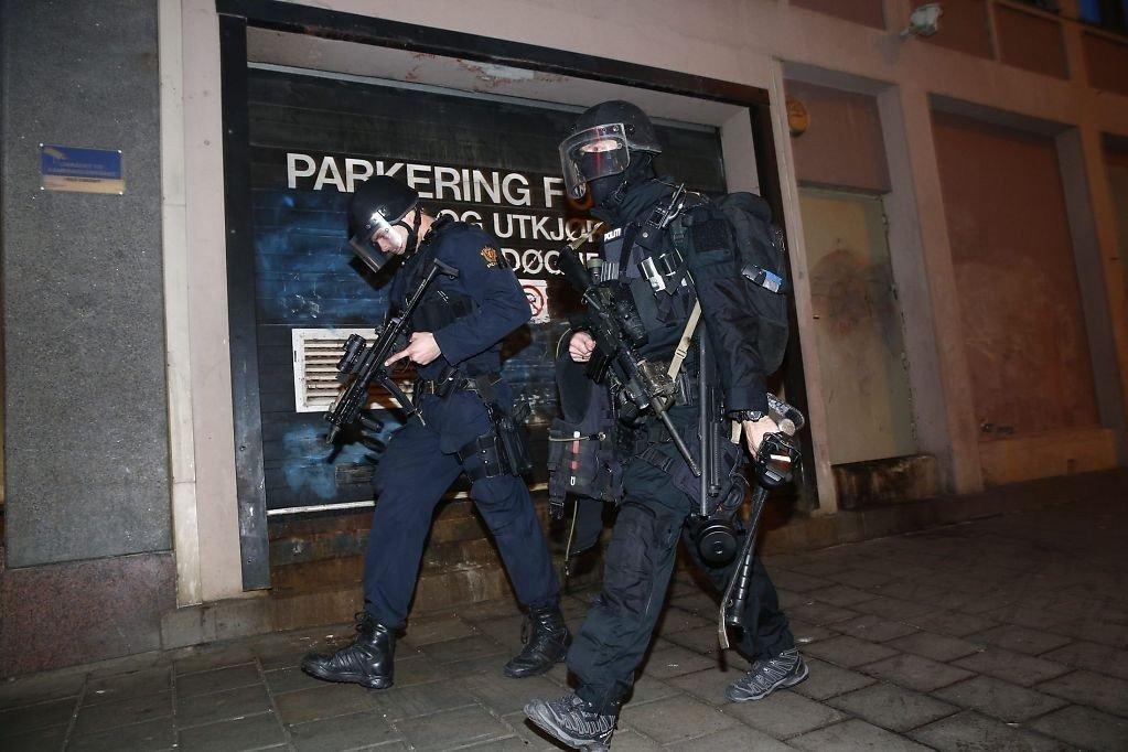 Politiet rykket ut med store styrker under gisseldramaet i Oslo sentrum i fjor. Foto: Heiko Junge (NTB scanpix)