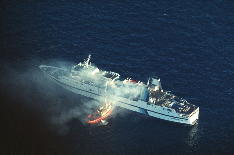 25 ÅR SIDEN: Brannen om bord i passasjerfergen «Scandinavian Star» førte til at 159 mennesker døde.