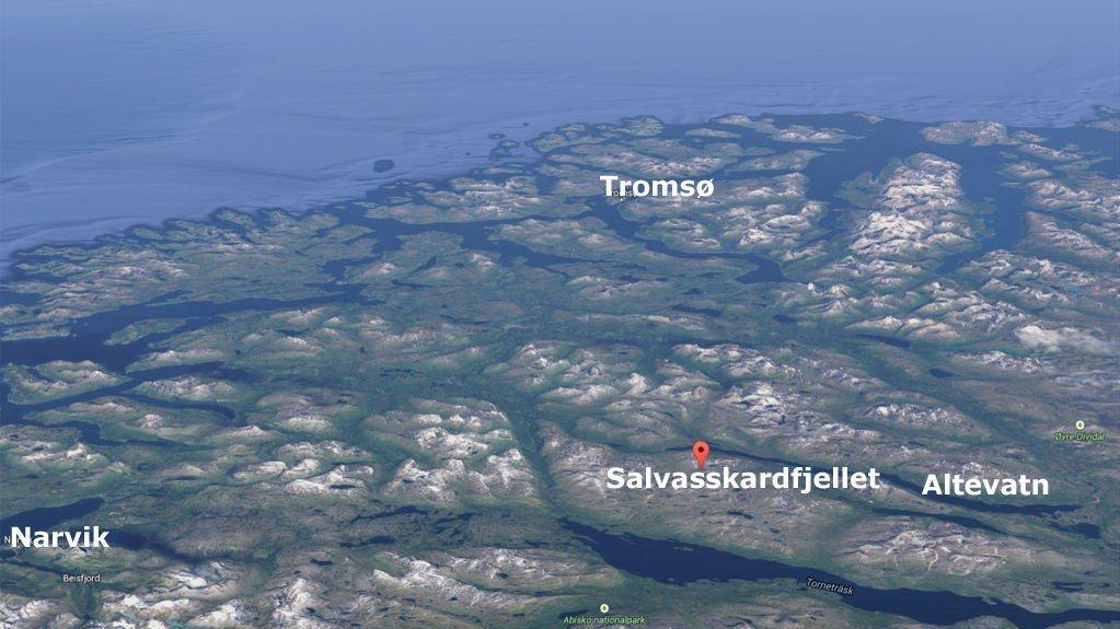 Salvasskardfjellet ligger i Bardu kommune på sørsiden av Altevatn.
