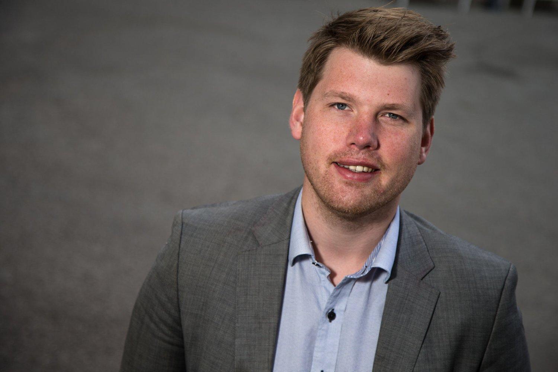 PROVOSERT: Atle Simonsen (26), leder for Fremskrittspartiets Ungdom (FpU) synes AUF-leder Mani Hussainis uttalelser om Frps 1. mai-arrangement er provoserende. Foto: Scanpix