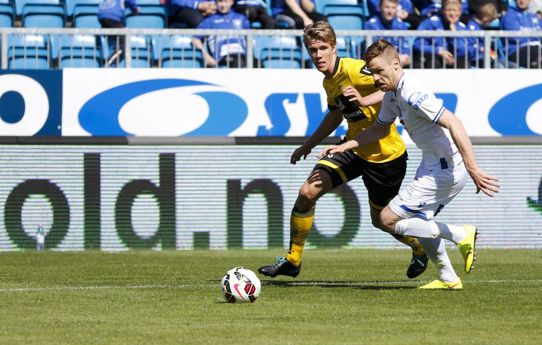 MATCHVINNER: Kristoffer Ajer scoret kampens to mål mot Haugesund. FOTO: NTB scanpix