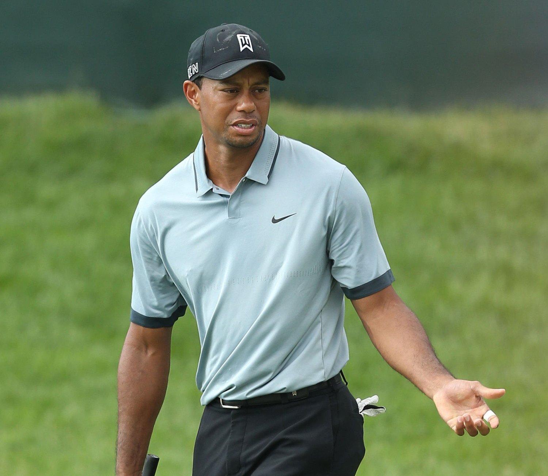 LANGT UNNA TOPPFORMEN: Tiger Woods sliter stort før U.S. Open. Lørdag ble det hele 13 over par.