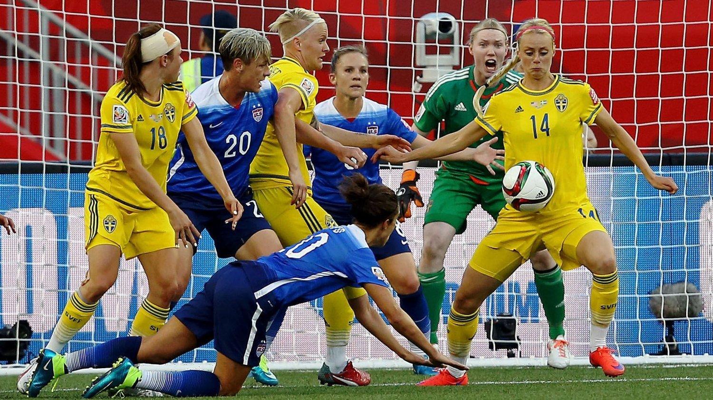 KOK: Sverige fikk med seg ett poeng fra møtet med USA.