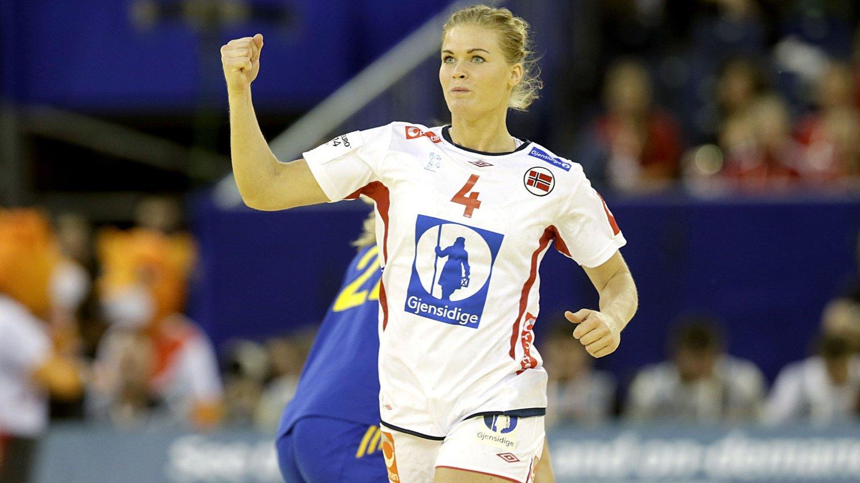 TOPPSCORER: Veronica Kristiansen scoret seks mål mot Brasil.