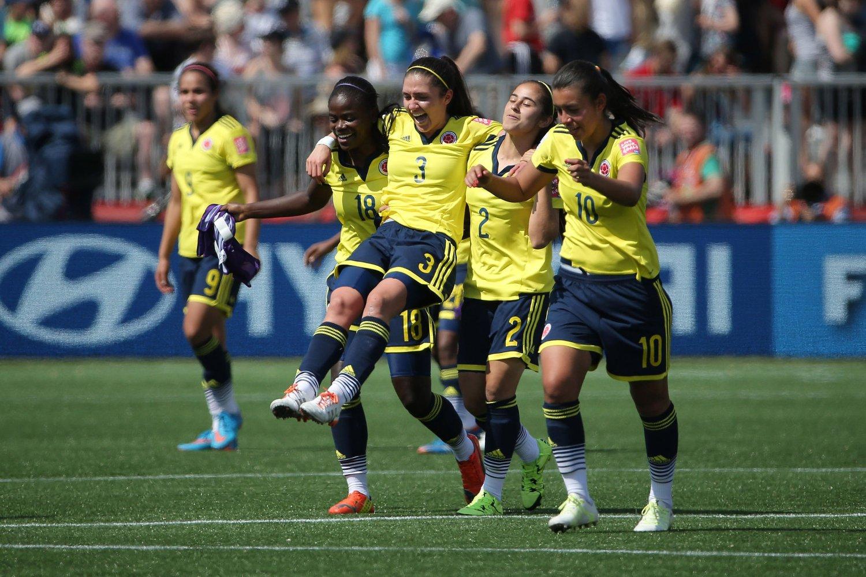 De colombianske jentene hadde god grunn til å juble lørdag.