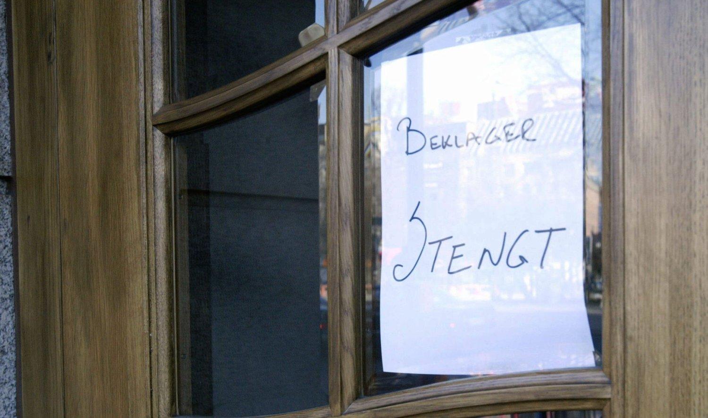 ØKNING I ANTALL KONKURSER: Stadig flere bedrifter må stenge dørene. Illustrasjonsfoto.