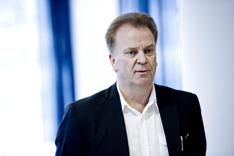 HALVOR VATNAR: Her under en pressekonferanse om pilotstreiken i Norwegian i Parats lokaler i Oslo.