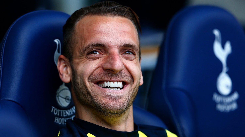 PÅ VEI BORT: Roberto Soldado skal være på vei til spanske Sevilla.