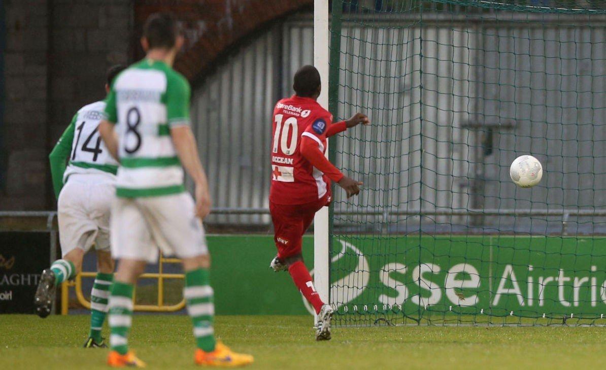 SCORET TO: Her setter Olivier Occean inn ett av to mål på Irland.