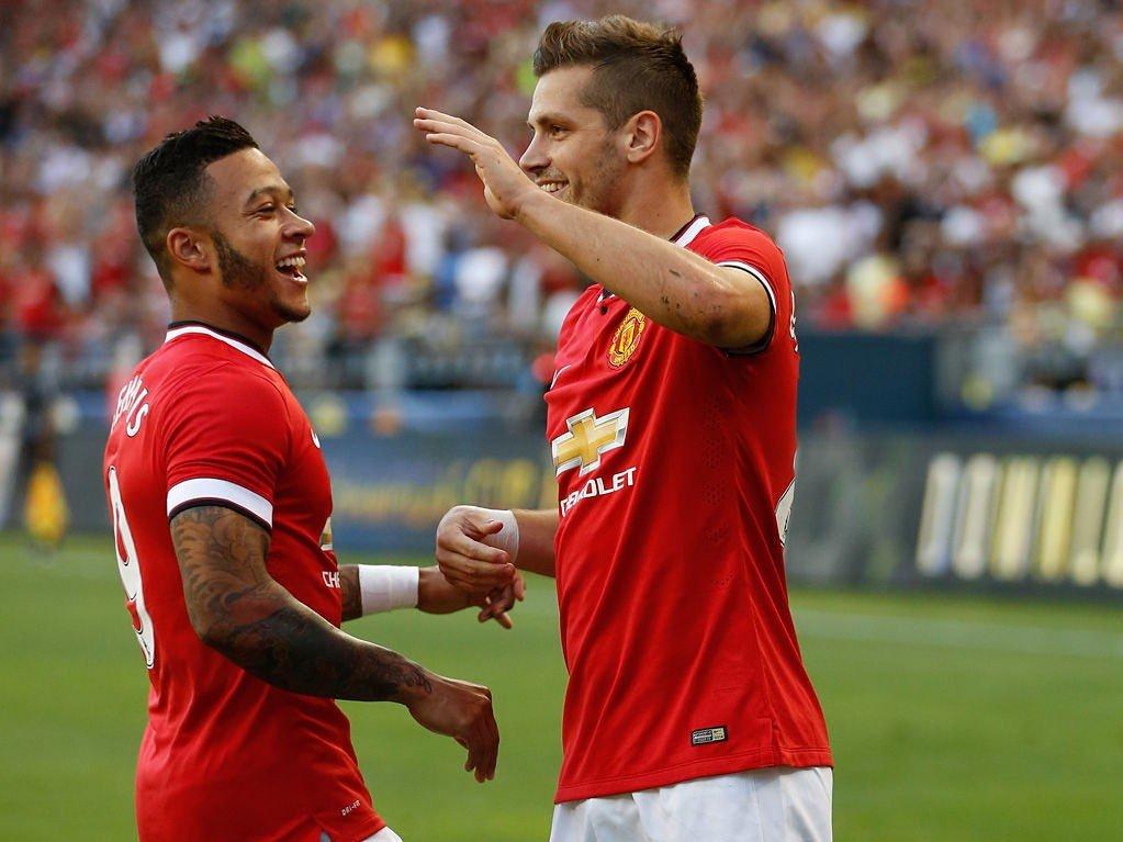 PEREFKET START: Morgan Schneiderlin sørget for seier da Manchester United åpnet USA-turneen i Seattle.