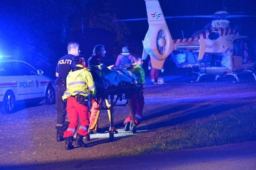 To personer er sendt til Haukeland sykehus etter båtulykken. En av disse skal være hardt skadet.