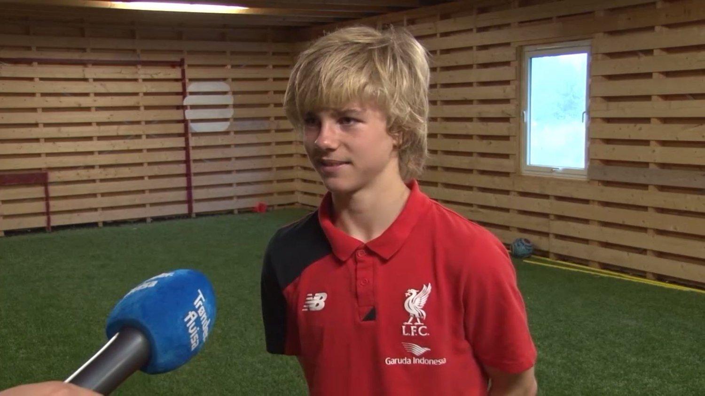 TIL LIVERPOOL: 14 år gamle Edvard Sandvik Tagseth er klar for Liverpool. Foto: Jonas Holberg, Trønder-Avisa