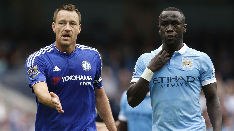 BYTTET UT: John Terry (t.v) ble byttet ut i pausen mellom Manchester City og Chelsea. FOTO: NTB scanpix