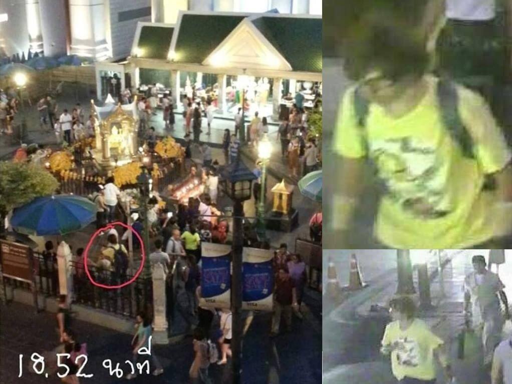 KLAPPJAKT: Politiet og hæren i Thailand samarbeider nå i jakten på denne mannen som ble fanget opp av overvåkingskameraer. Mannen er etterlyst.