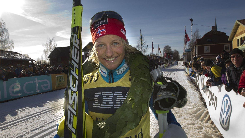 GIR SEG: Etter mange år som toppløper har Vibeke Skofterud besluttet å legge opp som langrennsløper.