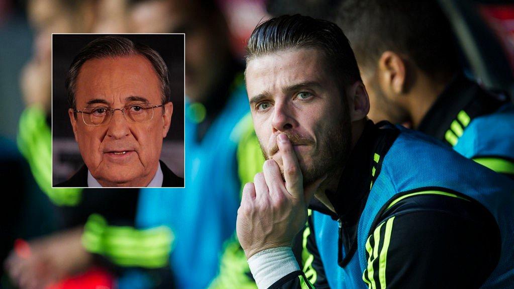 Real Madrid-president Florentino Perez sier Real Madrid ikke vil signere Manchester United-keeper David de Gea i januar.
