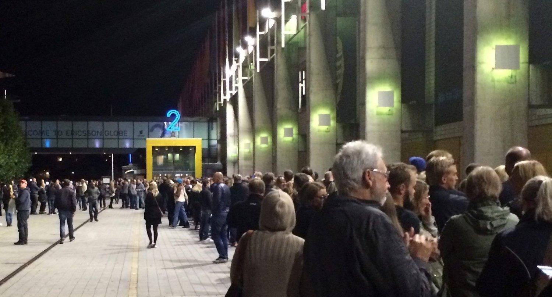 Hele Globen ble evakuert før konserten med U2 søndag.
