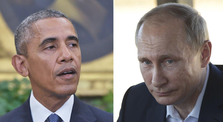 ÅPNER FOR SYRIA-SAMARBEID: USAs president Barack Obama og Russlands president Vladimir Putin.