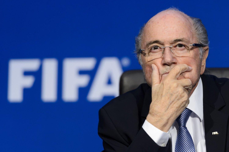 SIKTET: FIFA-president Sepp Blatter.
