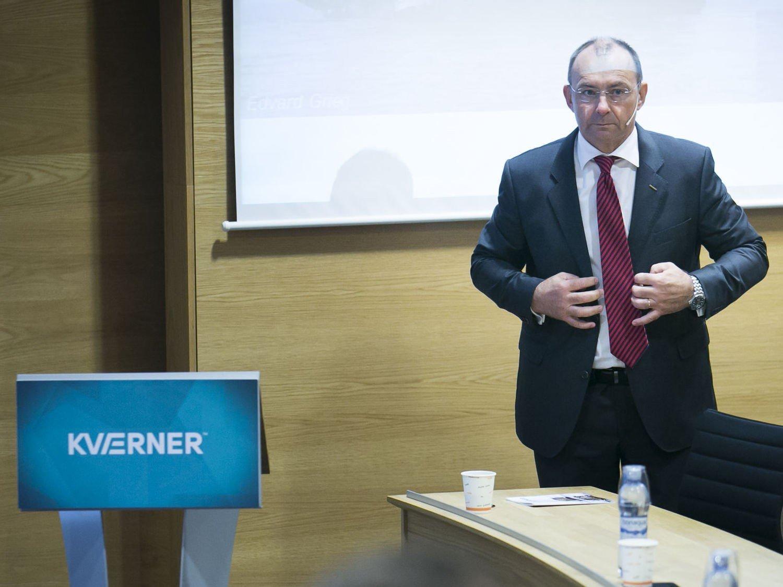 TILKJENT MILLIONER: . Kværner-sjef Jan Arve Haugen kan glede seg over at Kværner er tilkjent 74 millioner dollar, tilsvarende rundt 600 millioner kroner, i en amerikansk voldgiftssak. Foto: Heiko Junge / NTB scanpix