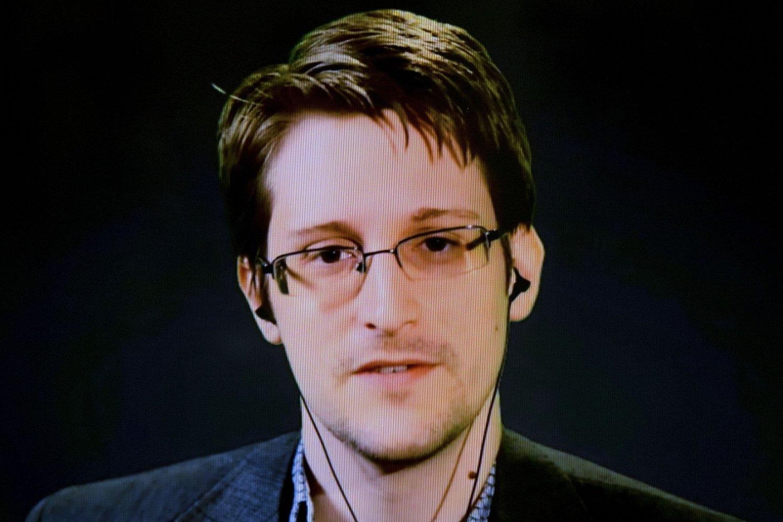VARSLEREN Edward Snowden fotografert mens han stilte opp via en videolink under et seminar nylig.