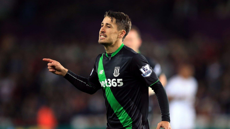 SCORET: Bojan scoret enkelt på straffesparket mot Swansea.