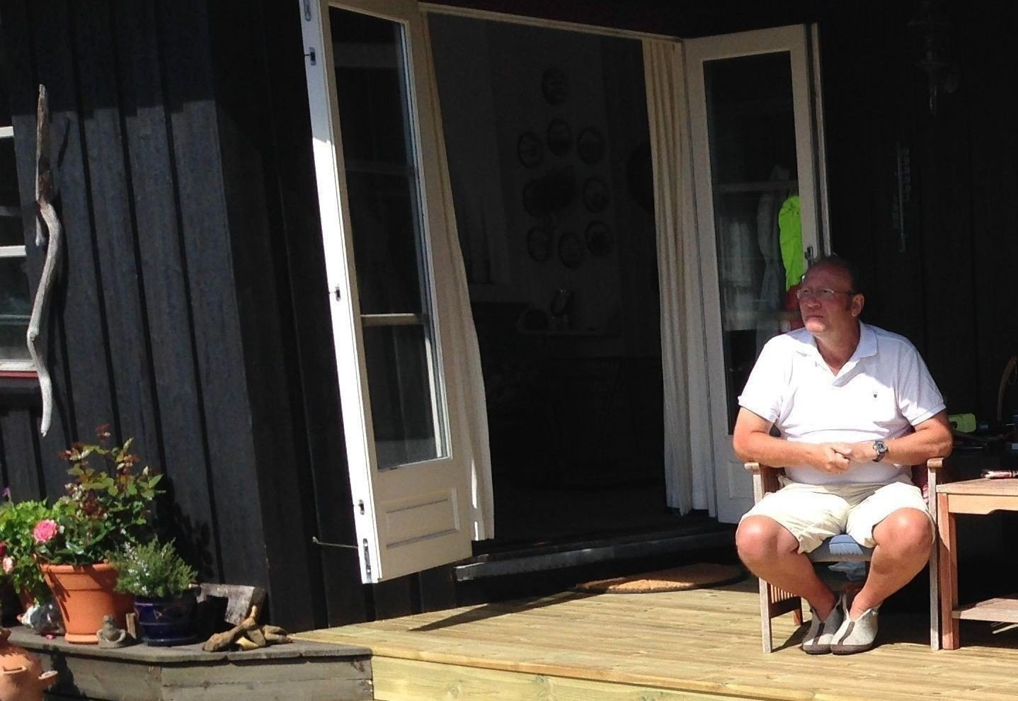 - LANDEVEISRØVERI: Håkon Beckman måtte betale over 500 kroner i strømregning for ett døgn på hytta i Hvaler.