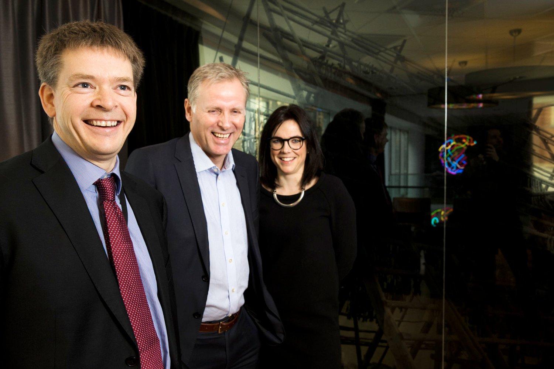 First House-sjef Per Høiby (i midten) har beklaget saken overfor Telemark fylkeskommune. Her er han sammen med Bjørn Richard Johansen og Johanna Ellefsen Rostad i First House.
