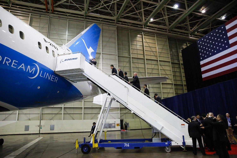 SALGSSUKSESS: Boeing inngikk torsdag to avtaler verdt til sammen 30 milliarder kroner for sin 787 Dreamliner.