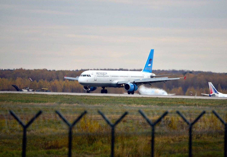 PASSASJERFLY: Et bilde av flyet som styrtet i Egypt tatt på en flyplass i Moskva 20. oktober i år.