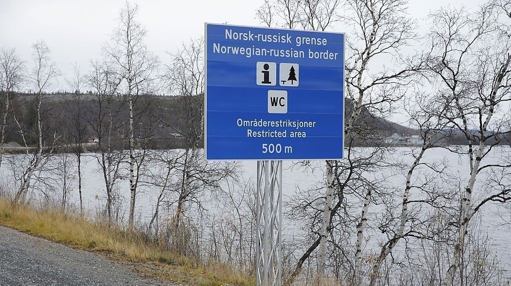 Den norskrussiske grensen ved Storskog grensekontrollsted utenfor Kirkenes.