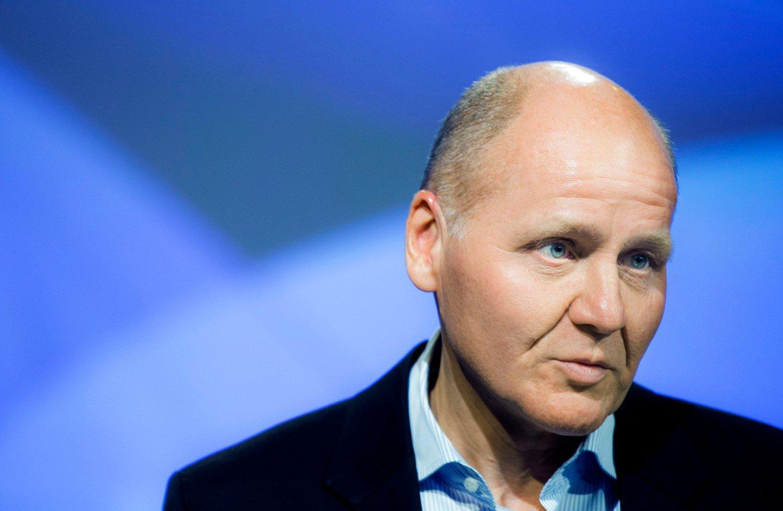 Konsernsjef Sigve Brekke under presentasjonen av resultatet 3. kvartal 2015 for Telenor. Nå truer den gamle Vimpelcom-saken med å skape krise for den norske telegiganten.