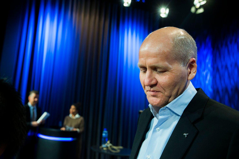 Konsernsjef Sigve Brekke under presentasjonen av Telenors resultatet nylig. Han ser med bekymring på tirsdagens nyheter fra Vimpelcom.