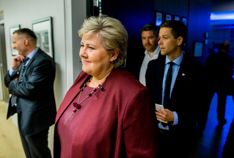 TOK FEIL: Statsminister Erna Solberg (H) sa på NRKs partilederdebatt i september at det fredag kom 200 flyktninger inn i Norge - bare over Storskog. Det viste seg å være langt fra sannheten, men nå er det sant.