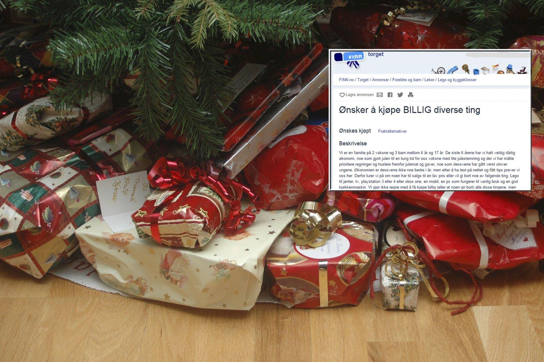 Unike Familie med dårlig økonomi søker etter billige julegaver på Finn.no MW-28