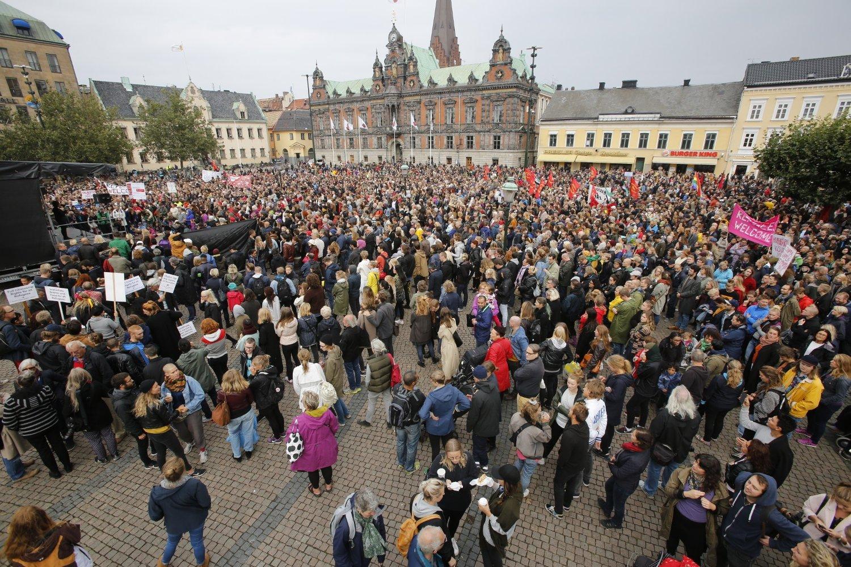 I september demonstrerte et hav av mennesker for et mer humant mottak av flyktninger i Malmø.
