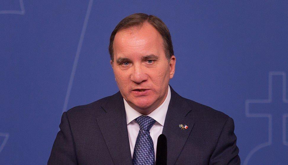 Sveriges statsminister holdt pressekonferanse om terrortrusselen torsdag.