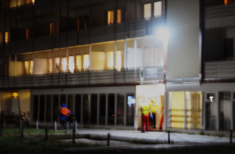 TRAGISK: På Sunndal asylmottak i Sunndalsøra utspant dramaet seg torsdag kveld. Foto: Jan Ødegård / Aura Avis / NTB scanpix