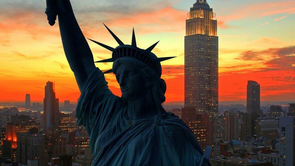 Frihetsgudinnen i New York, som er et svært ettertraktet reisemål for nordmenn.