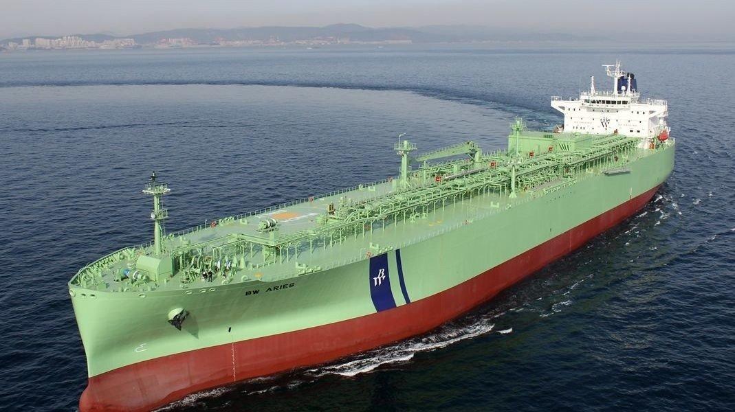Skipet BW Aries til gassrederiet BW LPG. Etter stengetid i markedet mandag kjøpte BW LPG ytterligere 852.800 aksjer i konkurrenten Aurora LPG.
