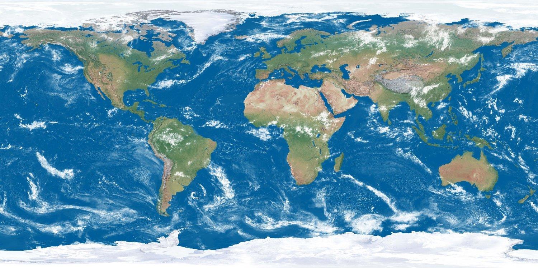 HELT FEIL VERDENSBILDE: Dette bildet av verden har vi sett i hundrevis av år, men det er helt feil. Grønland ser for eksempel like store ut som Sør-Afrika, og Antarktis er så digert at det strekker seg over hele verden.
