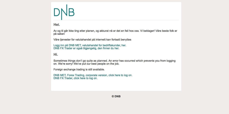 DATATRØBBEL: DNB har på ny problemer med nettbanken.