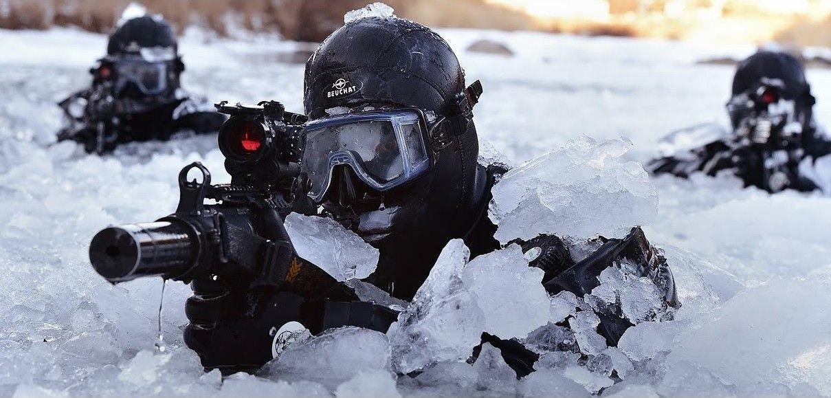US Marines i øvelse med norske styrker på ørlandet våren 2016.