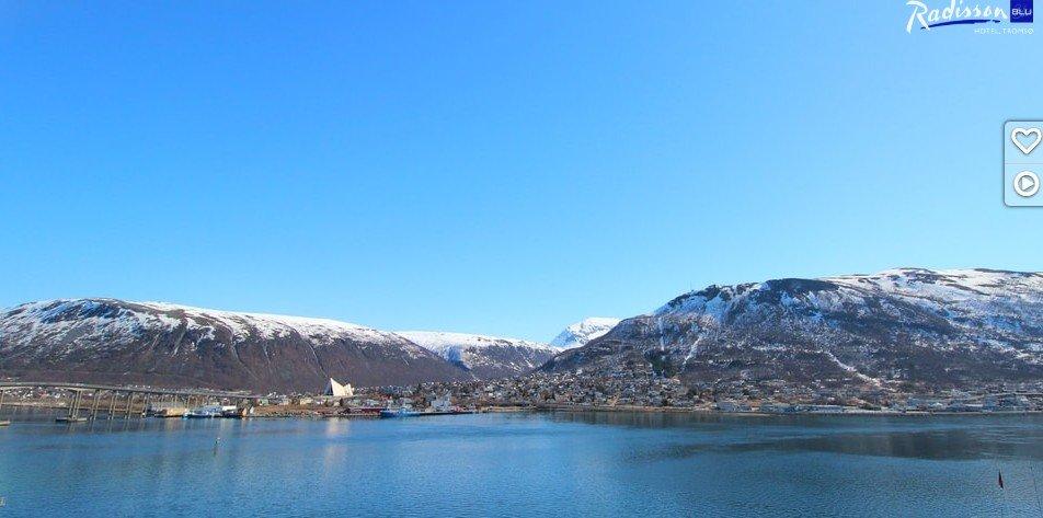 - Rekordvarme i #Tromsø i går 23,1 grader er den høyeste målte temperaturen så tidlig på året! skriver Meteorologene på Twitter. Bildet er hentet fra webcam påradissonblu.com i Tromsø.