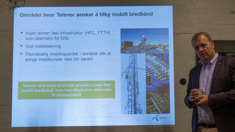 Moderniseringsdirektør Arne Quist Christensen er nå klar på at kobbernettet for fasttelefoni skal fases ut. Det samme skjer med 3G-nettet.