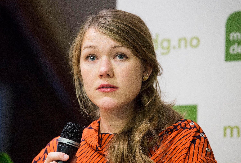 Nasjonal talsperson Une Bastholm i Miljøpartiet De Grønne.