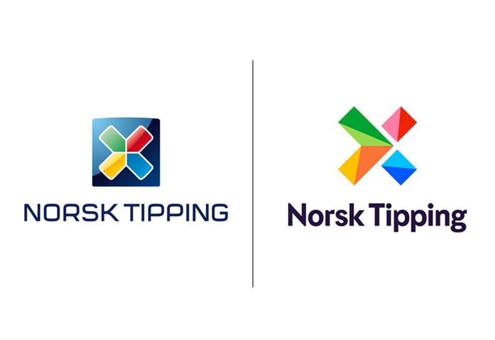 Denne uken endrer Norsk Tipping sin logo og benytter over 100 millioner kroner på å framstå mer moderne og lekende. Det tradisjonelle krysset som har vært brukt siden etableringen i 1948 beholdes. Foto: Norsk Tipping / NTB scanpix