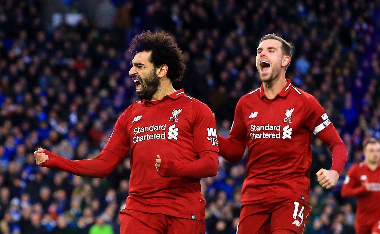 SCORET IGJEN: Liverpools Mohamed Salah.