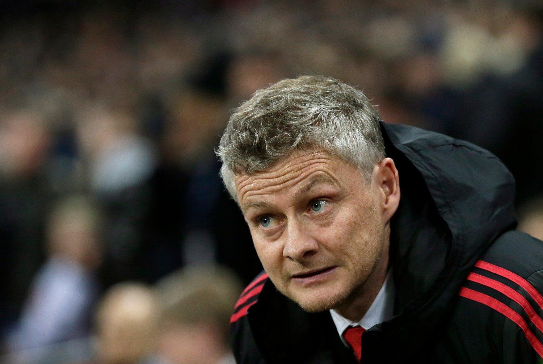 MØTTE PRESSEN: Manchester United-sjef Ole Gunnar Solskjær.